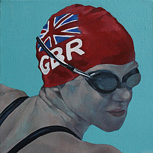 Olympic swimming painting
